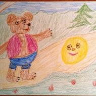 Колобок-Ковальский Люциан 6 лет (цветные карандаши)