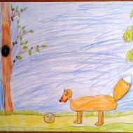 Колобок- Микаэлян Милица 6 лет (цветные карандаши)