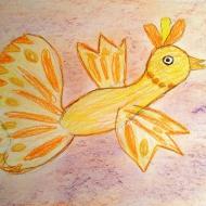 Жар-птица-Соколов Платон 6,5 лет (цветные карандаши)