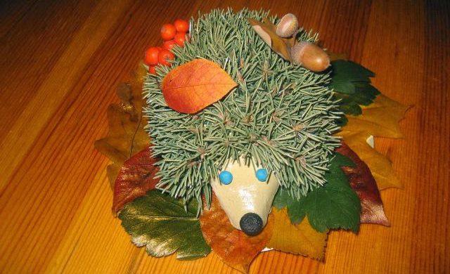 Поделка из природного материала в садик на тему осень